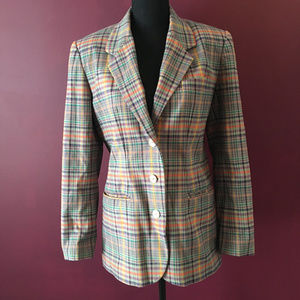 GAP Retro Gray Orange Purple Blue Blazer